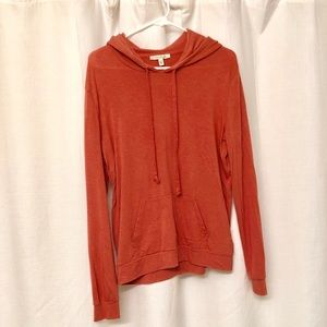 Dark coral pink Express thin stretchy soft hoodie